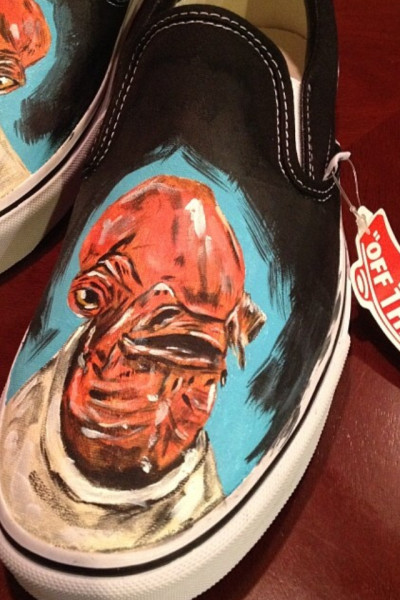 Admiral Ackbar - Star Wars fan art on a sneaker
