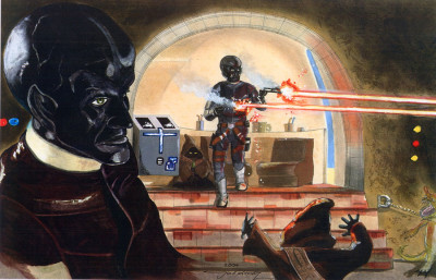 Star Wars cantina fan art in Bantha Tracks: Art Galaxy