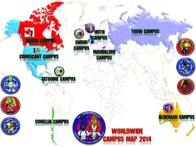 Galactic Academy Worldwide Campus Map