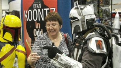 Mandalorian Mercs, Karen Traviss at SDCC 2008.