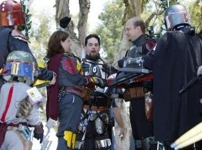 The Kuhlman's Mandalorian wedding ceremony at SDCC 2008