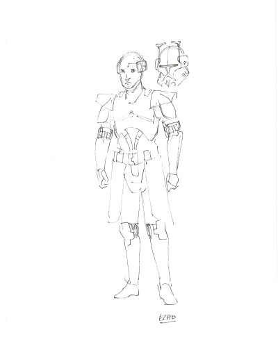 Dave Filoni The Clone Wars Echo sketch