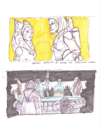 Dave Filoni Clone Wars drawings