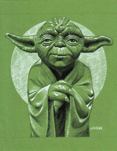 Yoda fan art in Bantha Tracks: Art Galaxy