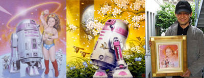 Star Wars artist Tsuneo Sanda and R2-KT