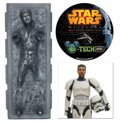 Star Wars D-Tech Me carbonite and Stormtrooper figures