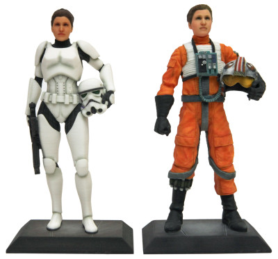 Star Wars D-Tech Me female X-wing pilot and Stormtrooper figures