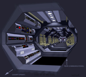Star Wars: The Clone Wars Republic stealth ship corridors