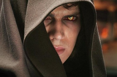 Anakin Skywalker with Sith eyes