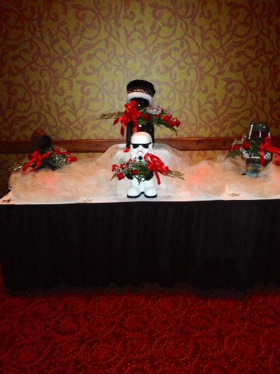 Star Wars prom - Stormtrooper guards the crowns