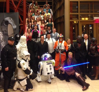 Star Wars prom - students and the 501st