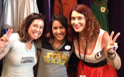 "Then I had a little break, so I went over to the Darth's Mall to get more Her Universe gear. I ran into some of my favorite ""Fangirls Going Rogue!"" Tricia Barr and Teresa Delgado!"