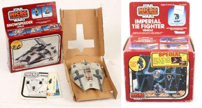 Snowspeeder and TIE Fighter © toysyouhad.com