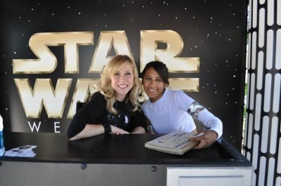 Teresa Delgado with Ashley Eckstein at Star Wars Weekends