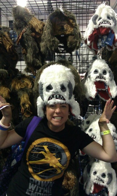 Tricia Barr goes Wampa at Star Wars Weekends 2012