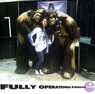 Amy Ratcliffe with Wookiee friends