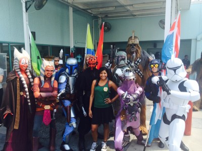 Tiya Sircar backstage at Star Wars Weekends