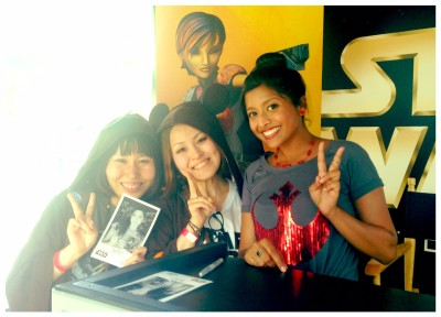 Tiya Sircar with fans at Star Wars Weekends
