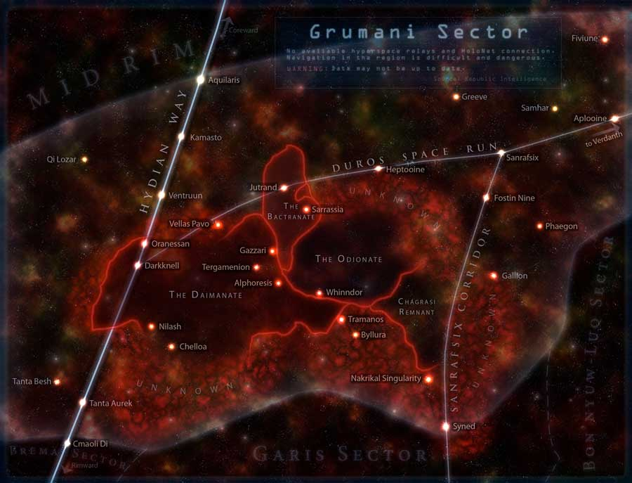 Grumani Sector map