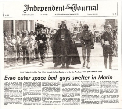 Darth Vader and Boba Fett on the cover of the Independent Journal