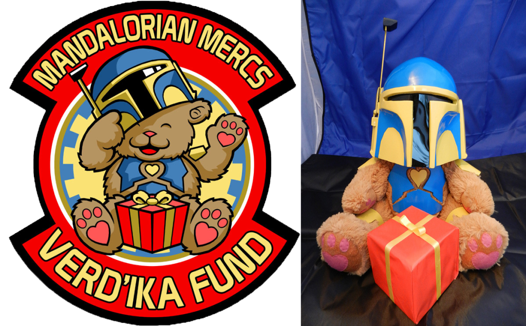 """Verd'ika Bear"" is the mascot of LWI's ""Verd'ika Fund"" holiday charity. Some MMCC Clans have even made plushies of the mascot."