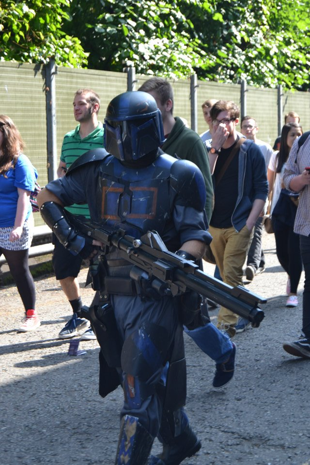 A Mandalorian at the London Film and Comic Con