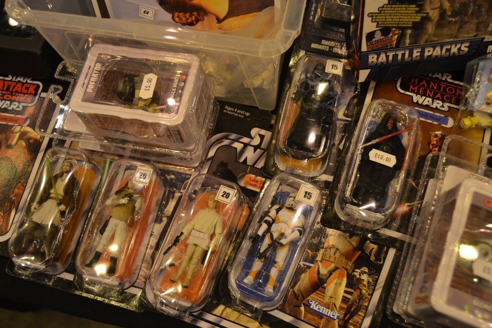 Star Wars figures at at the London Film and Comic Con