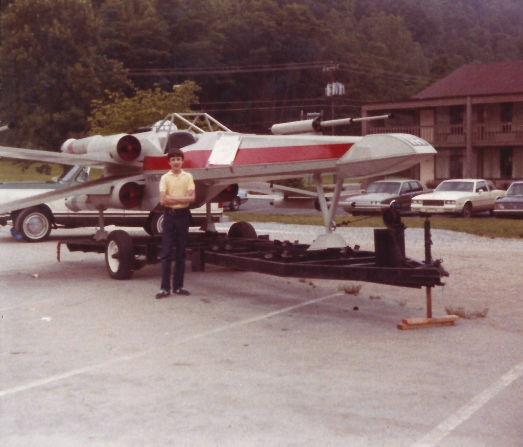 A few years later, at a tourist trap in Cherokee, North Carolina. If Yoda hadn't lifted Luke's X-wing with the Force, he could have gone with a trailer.