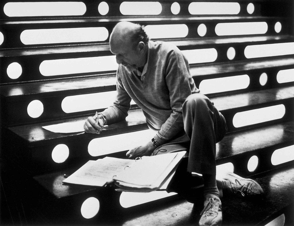 Irvin Kershner on the carbon freezing chamber set.