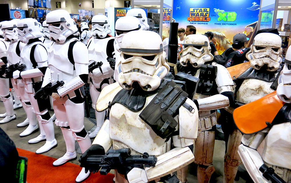 Rebels beware! The 501st Legion stopped by the booth on their parade through the show on Friday, and showed off Imperial might.
