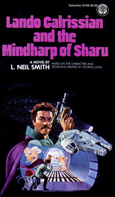 Lando complained about how little the droid Vuffi Raa (a version of which is seen on the original cover of Lando Calrissian and the Mindharp of Sharu) resembled a human in form.
