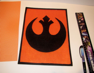 Rebel Alliance bag in progress 2
