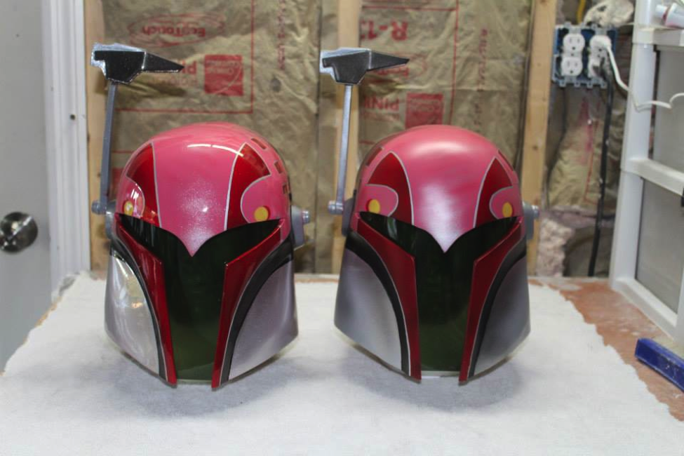 "It's not a Mandalorian helmet without the signature ""T-Visor""."