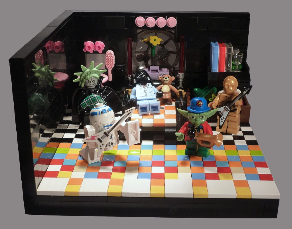 """May the Fourth Party"" LEGO Star Wars diorama"