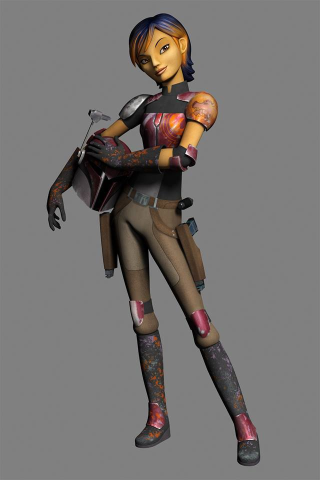 """""""Sabine Wren is a 16 year old Mandalorian, and member of the Ghost crew in Star Wars: Rebels"""""""