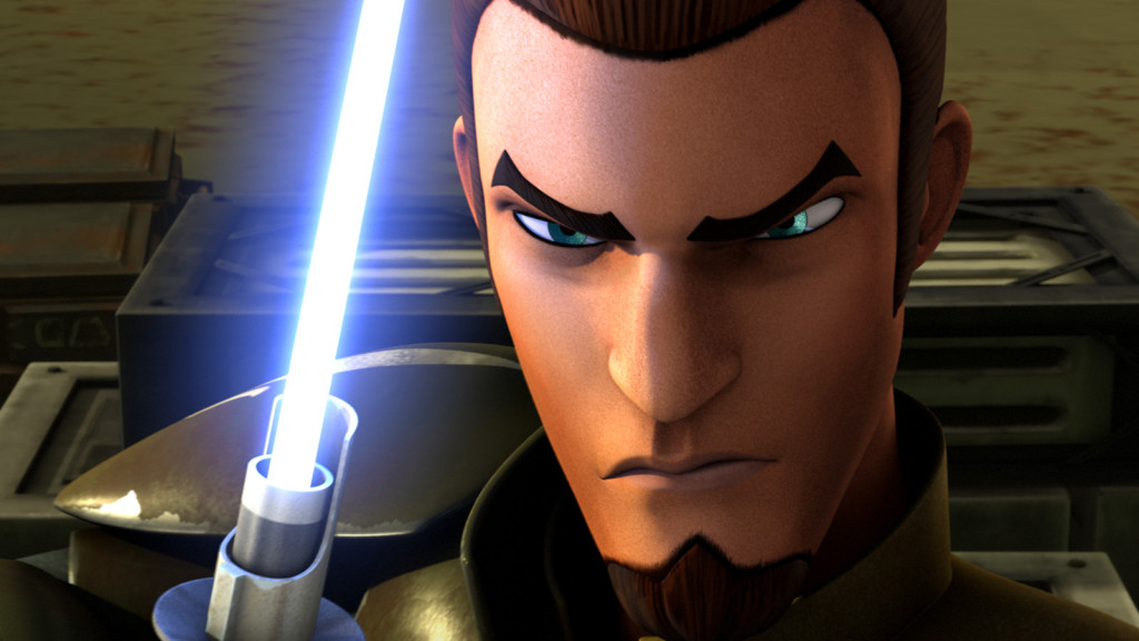 Kanan with lightsaber in Star Wars Rebels