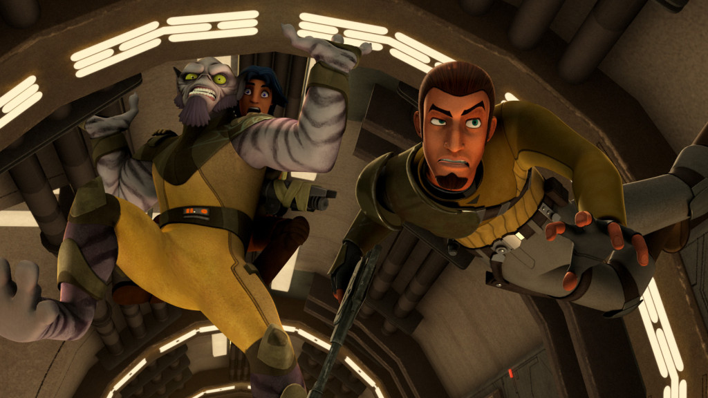 "Star Wars Rebels' ""Spark of Rebellion"" zero G chase"