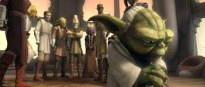 The Jedi Council worries about Yoda at the end of the Clone Wars