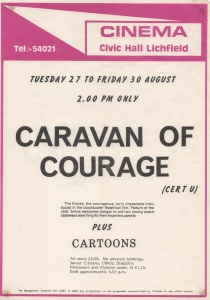 Poster for local UK viewing of Caravan in 1985