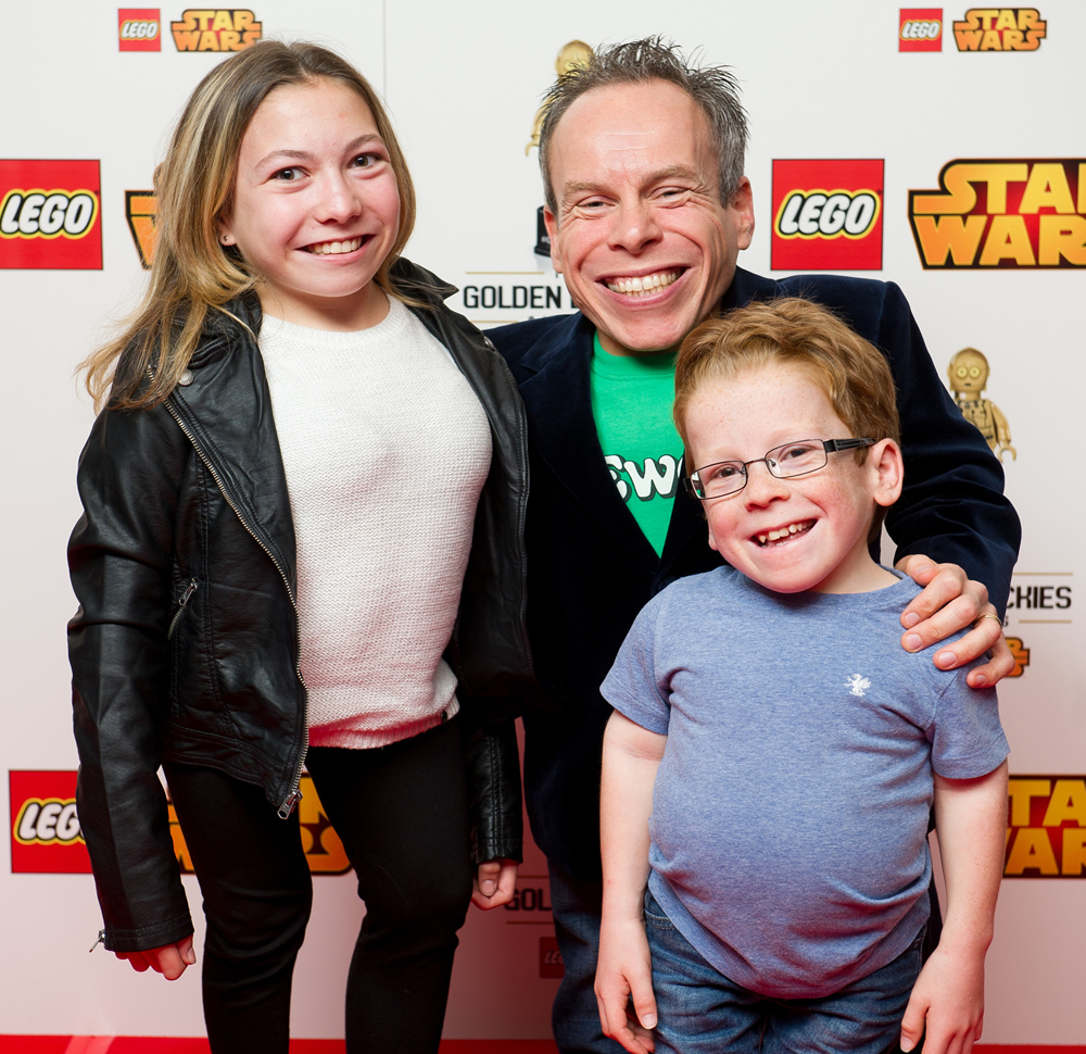 Warwick Davis at the LEGO Brickies