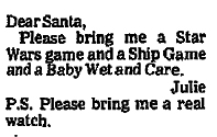 Star Wars letter to Santa