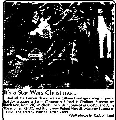 Star Wars Christmas play