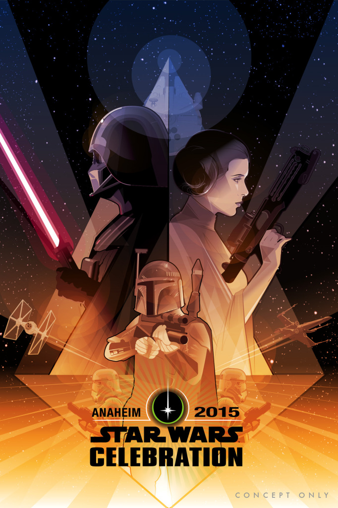 Star Wars Celebration poster by Craig Drake - Boba Fett