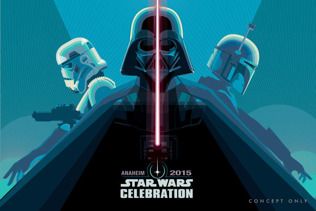 Star Wars Celebration poster by Craig Drake - Vader (blue)