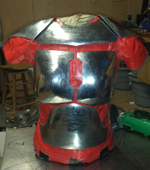 Ensuring proper fitting is paramount as you finish each piece.  Comfortable armor makes for happy warriors.