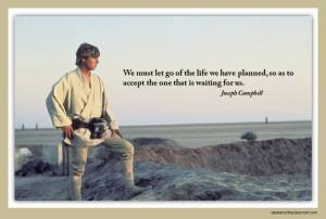 Star Wars in the Classroom - Luke Skywalker / Joseph Campbell slide