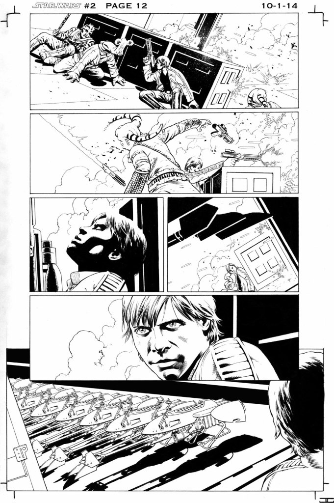 Star Wars #2 interior page by John Cassaday