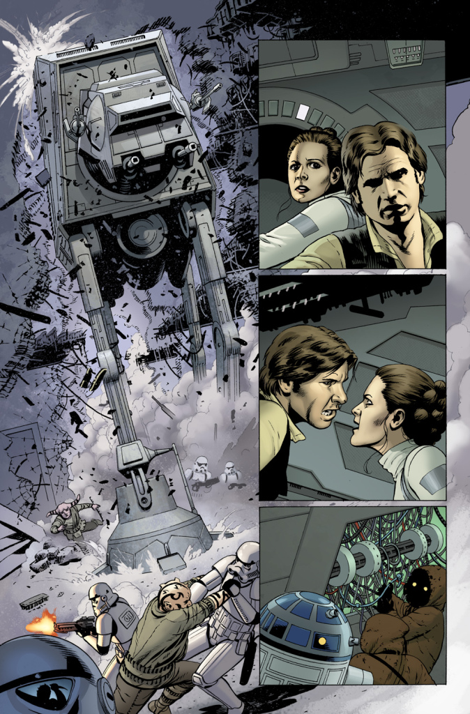 Star Wars #1 interior page by John Cassaday