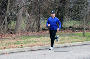 The only known photo of Cole Horton running. Ever.