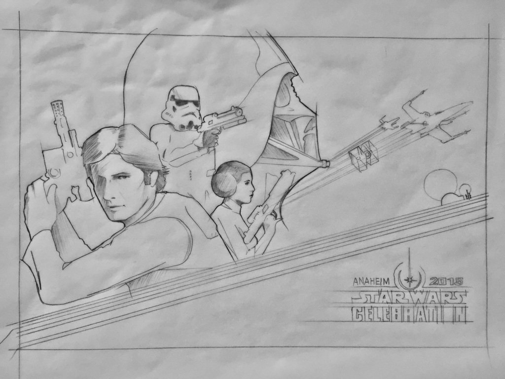 Criag Drake's Star Wars Celebration early sketch